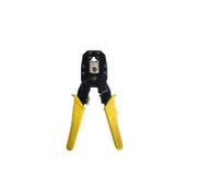 Eliable-Werkzeug für die Kräuselung von verdrehtem, Ethernet-Quetschwerkzeug-ISO stockbild