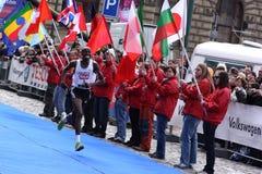 Eliah Muturi Karanja che vince la maratona mezza Fotografia Stock