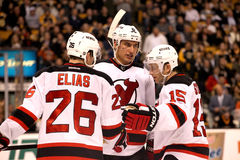 Elias, Zubrus & Sykora New Jersey Devils Stock Photos
