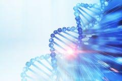 Elica blu sopra il blu bianco, concetto del DNA di scienza royalty illustrazione gratis