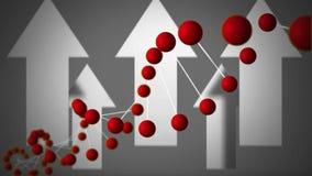 Elica del DNA con le frecce illustrazione vettoriale