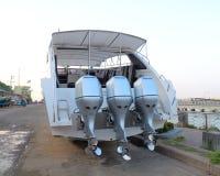 Elica del motore della barca di velocità Immagine Stock