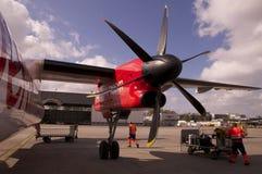Elica di un bombardiere Q400 Immagine Stock Libera da Diritti