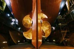 Elica e timone della nave Fotografia Stock