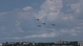 Elica militare russa dell'elicottero Mi-28N stock footage