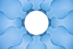 Elices azules abstractos foto de archivo