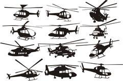 Elicotteri impostati Fotografia Stock Libera da Diritti