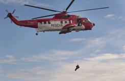 Elicotteri irlandesi di ricerca e di salvataggio della guardia costiera fotografia stock libera da diritti
