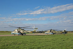 Elicotteri Mi-24 Immagini Stock