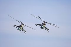 Elicotteri militari Immagine Stock