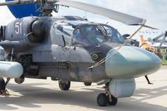 Elicotteri militari russi alla mostra internazionale immagini stock