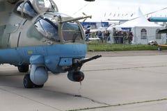 Elicotteri militari russi alla mostra internazionale fotografia stock