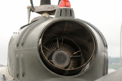 Elicottero Bell UH-1H Iriquois della turbina del dettaglio Immagini Stock