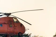 elicottero d'annata rosso Fotografia Stock