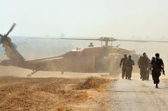 Elicottero del falco del nero di Sikorsky UH-60 dell'israeliano Immagini Stock Libere da Diritti