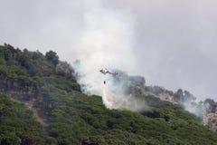 Elicottero del fuoco Immagine Stock