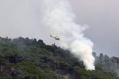 Elicottero del fuoco Fotografia Stock