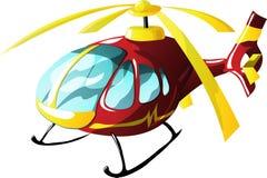 Elicottero dell'ambulanza del fumetto illustrazione vettoriale