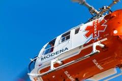 Elicottero della squadra di emergenza Fotografie Stock