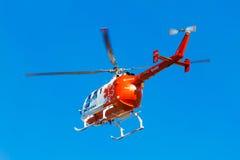 Elicottero della squadra di emergenza Fotografia Stock