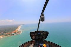 Elicottero dentro la vista Immagine Stock