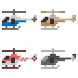 Elicottero di arte del pixel dell'illustrazione royalty illustrazione gratis