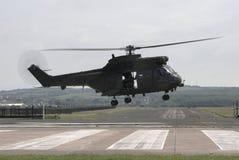 Elicottero di atterraggio Fotografia Stock