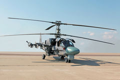Elicottero di combattimento Ka-52 Fotografia Stock