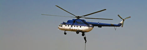 Elicottero di esposizione di aria Immagini Stock Libere da Diritti