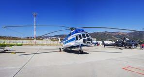 Elicottero di Gidroaviasalon 2014 Immagine Stock