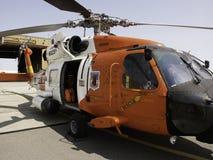 Elicottero di Jayhawk della guardia costiera Fotografie Stock Libere da Diritti