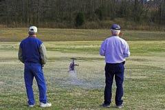 Elicottero di modello di volo Fotografia Stock