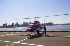 Elicottero di New York Fotografia Stock