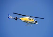 Elicottero di notizie immagine stock