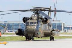 Elicottero di trasporto di Sikorsky CH-53 dell'esercito tedesco Immagine Stock Libera da Diritti