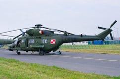 Elicottero di W-3PL Gluszec su Radom Airshow, Polonia fotografia stock
