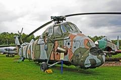Elicottero di Wessex al museo di aeronautica di Dumfries Fotografia Stock Libera da Diritti