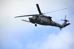 Elicottero durante il volo Fotografia Stock