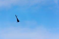 Elicottero durante il volo Immagini Stock
