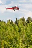 Elicottero in foresta Fotografia Stock