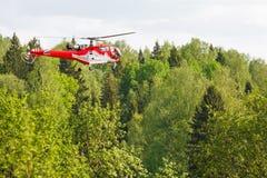 Elicottero in foresta Immagine Stock Libera da Diritti