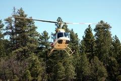 Elicottero in foresta Fotografia Stock Libera da Diritti