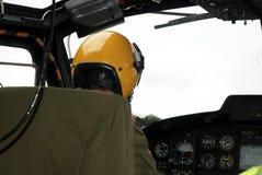 Elicottero - interiore immagine stock