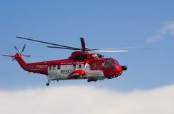 Elicottero irlandese di ricerca e di salvataggio della guardia costiera fotografia stock libera da diritti