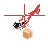 Elicottero isometrico di consegna Immagine Stock
