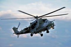 Elicottero Mi-24 Fotografie Stock