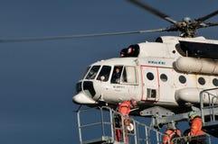 Elicottero MI 8 MTV 1 nella Transilvania Fotografia Stock Libera da Diritti