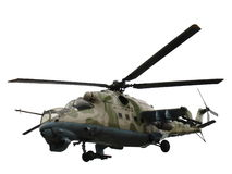 Elicottero Mi-24V Mi-35 isolato Fotografia Stock Libera da Diritti