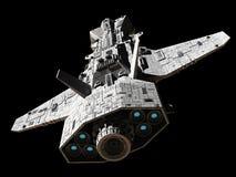 Elicottero militare interplanetario della fantascienza - vista in alto e dietro Fotografia Stock