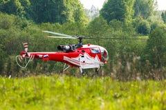 Elicottero nel campo Immagine Stock Libera da Diritti